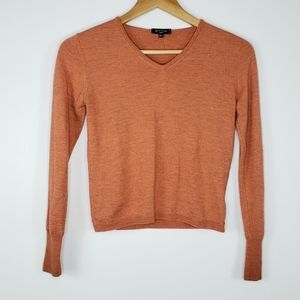 ETRO Milan Cashmere Silk Orange Marled Sweater